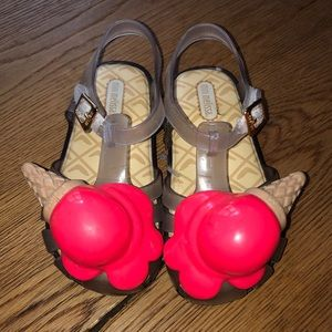 Mini Melissa melted ice cream shoes